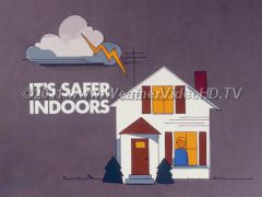 Lightning Safety Rules You are about as safe as possible during a lightning storm when inside an structure.
