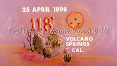 Weather Diary  25 April 1898 Desert heat.