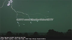 Secret Life of A Lightning Bolt Lightning  captured at 7207 fps with a Phantom camera. Note the many initial stepped leaders, a  single return stroke, continuing current and  a recoil leader.