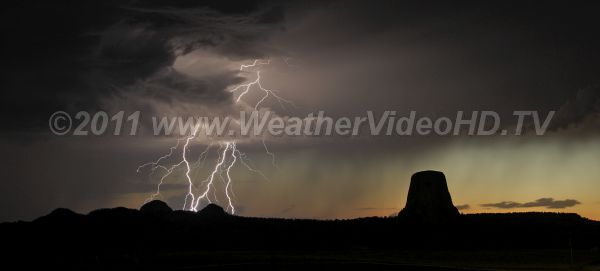 Devil Fire Lightning strikes near the Devils Tower