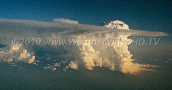 Sunset Supercell A classic supercell seen while circumnavigating in a commercial jet