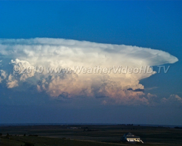 Classic Thunderhead Anvil Updrafts flatten out on base of stable stratosphere