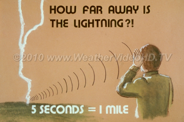 How Far Away? Flash - Bang: Each 5 seconds from the flash is one mile of distance