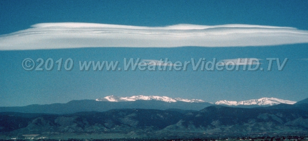 Mountain Wave Clouds Mountain waves with major and minor crests lee of the Rockies