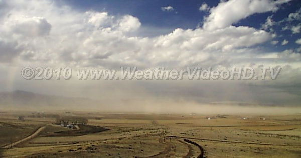 Dust Storm Stromng northerly winter winds blast clouds of Colorado topsoil high into the sky and far away