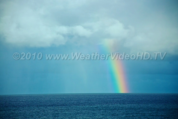 Atlantic Rainbow Rainbows can occur over water just as well as land