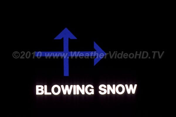 Weather Symbol - Blowing/Drifting Snow The generic weather map symbol for blowing or drifting snow