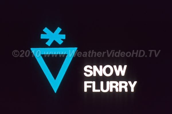 Weather Symbol - Snow Flurry The generic weather map symbol for snow flurries or showers