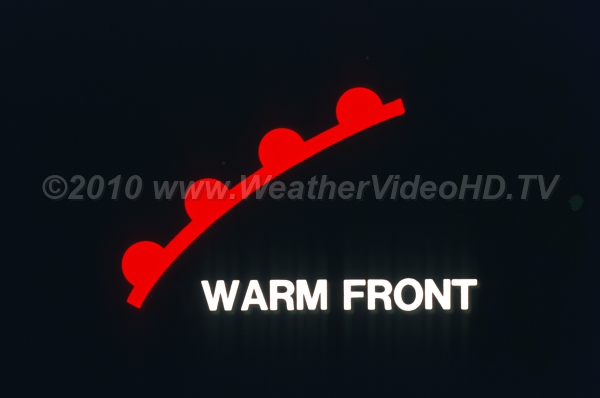 Warm Front Symbol Weather Map.Weather Symbol Warm Front Royalty Free Stock Weather Videos And