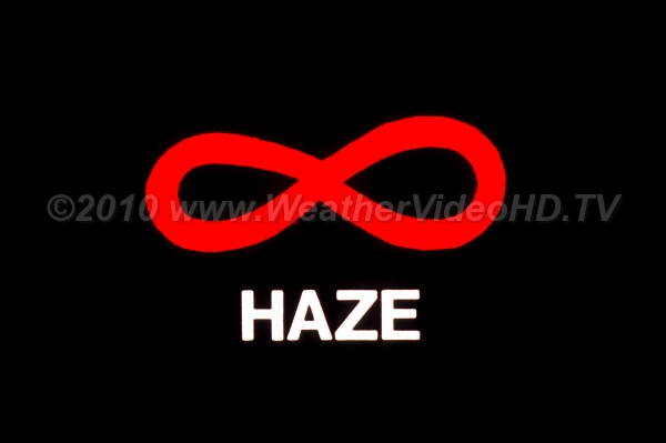 Weather Symbol - Haze The generic weather map symbol for haze (not fog)
