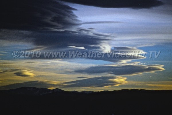 Lenticular Sky Multiple lenticular clouds over the mountains