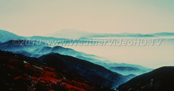 California Smog Smog is trapped down in southern CA valleys due to the intense marine inversion