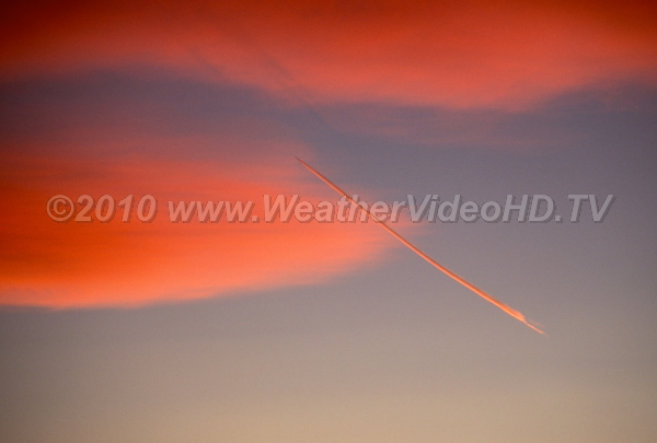 Contrail and Mountain Wave Sunset color palette includes vivid pink