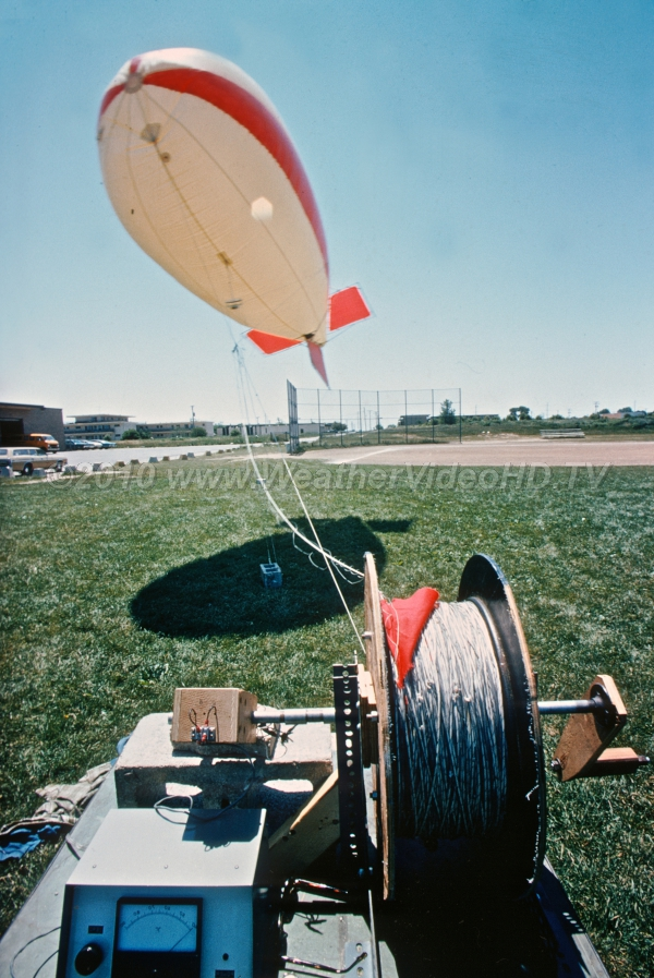 Wiresonde Balloon used to loft sensors to make low level temperature soundings