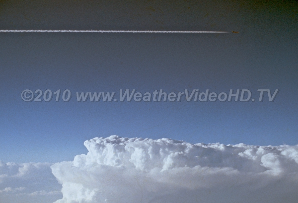 Up and Over Commercial jets can overfly less vigorous thunderstorms, which may not reach 30,000 ft