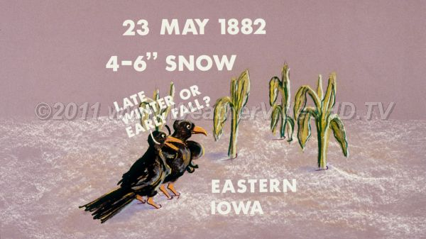 Weather Diary  23 May 1882 Late season snow!