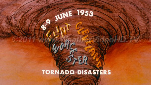 Weather Diary  8  June 1953 The Flint and Worchester tornado disasters.