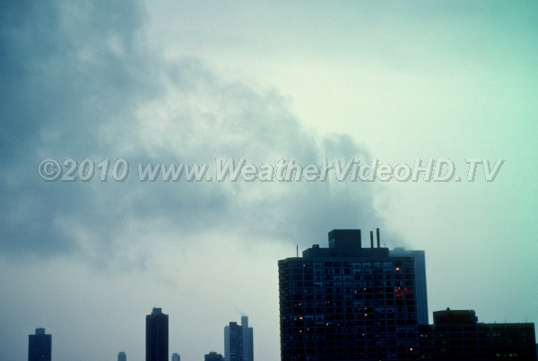 Smoking Buildings? Cloud banners form as stable moist air rises up and over tall buildings