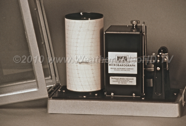 Microbarograph Monitoring air pressure in the pre-digital age using an ink stylus and a revolving drum