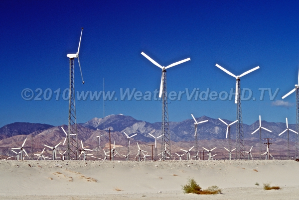Desert Winds One of the pioneering wind energy farms near Palm Springs