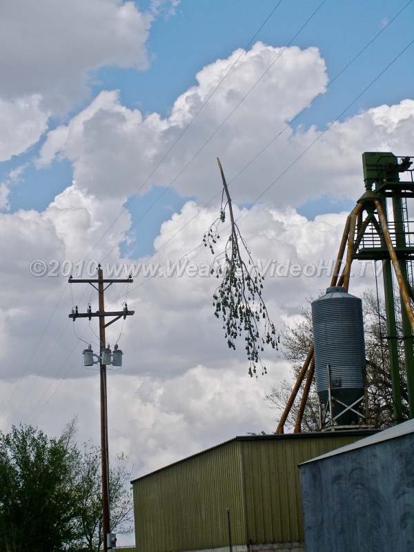 High Wire Act Debris from strong thunderstorm winds can land up in undesirable places