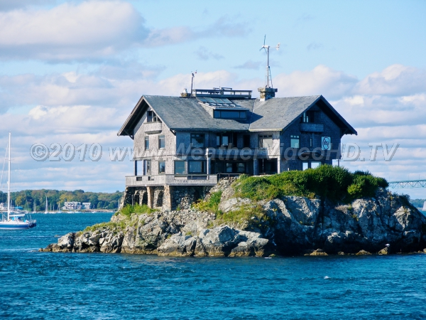 A House Built on Stone Structure built on rock in Narraganset Bay has withstood several hurricanes (barely)