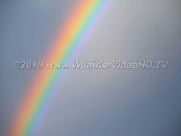 Red to Violet The entire solar visible spectrum is clearly visible in this intense primary rainbow
