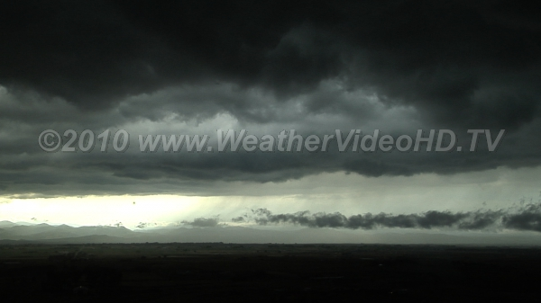 Storm Front Thunderstorm updrafts triggered by undercutting cold front trigger downpour