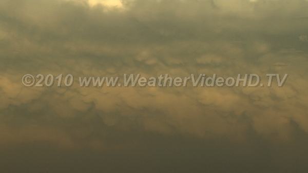 Mammatus in Anvil Complex motions in a supercell anvil