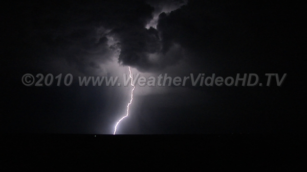 Lightning Strikes Multi-stroke flash following same channel to ground