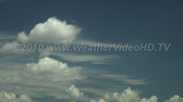 Wind Shear Low, middle and high clouds  moving in different directions
