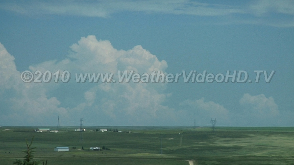 Dry Line Thunderstorms Deep convection forms along the dry line in eastern Colorado