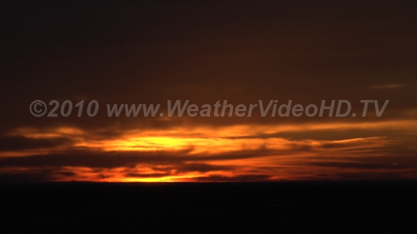 Orange Sunrise High cirrostratus clouds imaprt sunrise colors