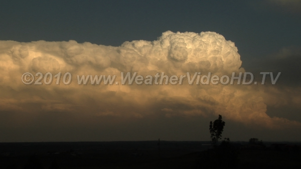Thunderhead Heads Northeast Supercell shows strong updraft and ever extending anvil in jet stream winds