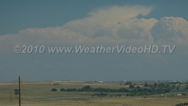Thunderheads on the Horizon Cumulonimbus forming along the high plains dry line