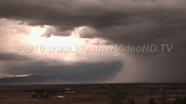 Downburst Intense rain-filled downdraft embedded in a large system of rain squalls