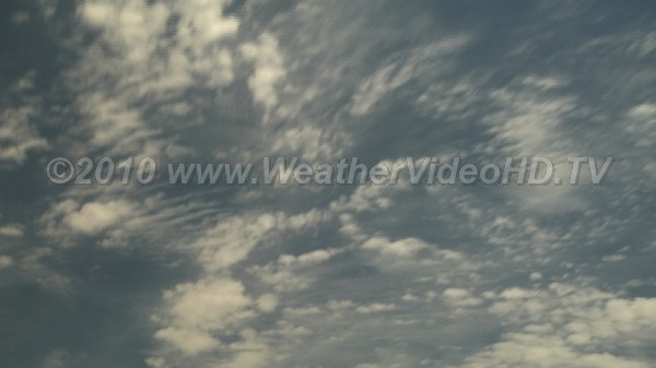 Fair Weather Sky Time lapse reveals complex motions in an apparently placid summer sky
