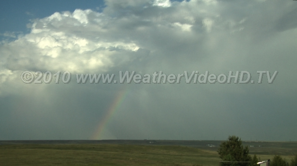 Shallow Storms Shallow CBs, typical of cold airmass, here produce virga and rainbows as well