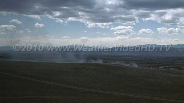 Moderate Mixing Grass fire smoke mixes only moderately in the vertical due to lack of solar heating of ground