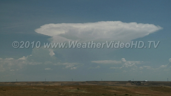 Classic Thunderhead Anvil The glaciated top of a thunderstorm is often called an anvil - this shows why