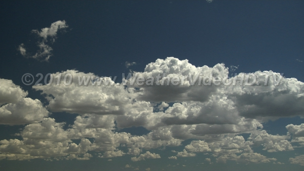 Classic Cumulus Warm air thermals rising from ground form cumulus with bases around 5000 feet above ground