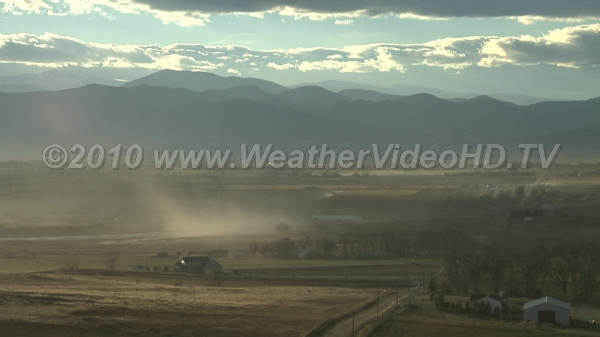 Blowing Dust Wind blown agriculural dust