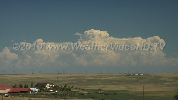 Let the Storms Begin Intense convective cells seen from behind a high plains dry line