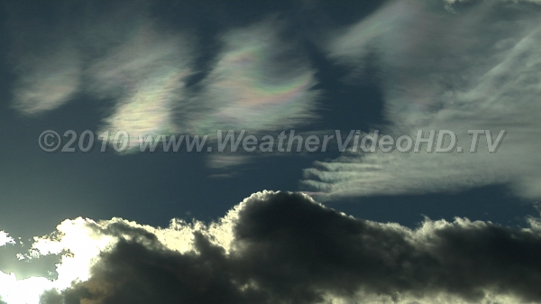 Iridescent Waves Lenticular clouds with colors