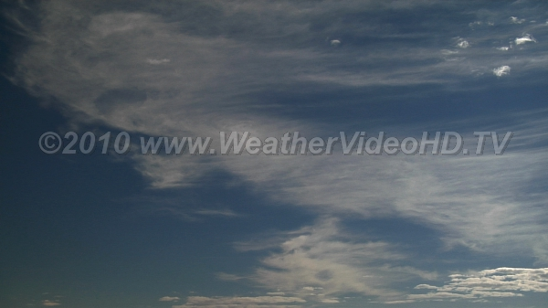 Little Wind Shear Cirrus and Altocumulus movement reveal little directional wind shear with height