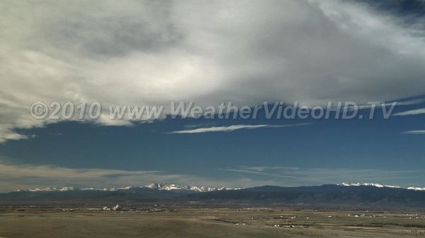 Banner Clouds Lee of Rockies Crest of massive mountain wave is marked by a standing banner cloud