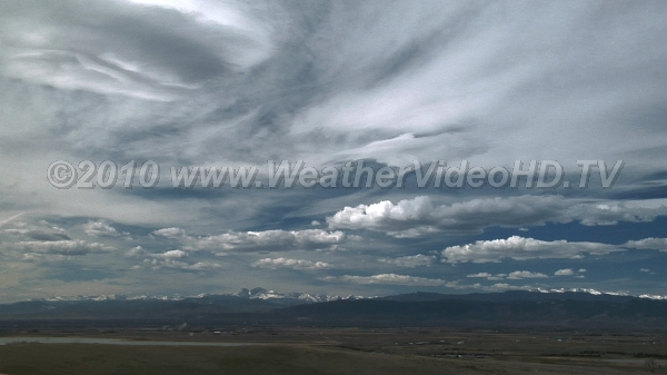 Fair Weather in Colorado Typical display of low, middle and high clouds lee of the Front Range