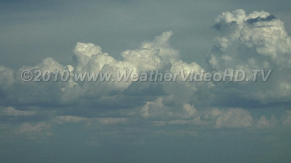 Destabilization Growing towering cumulus clouds indicate an unstable atmosphere