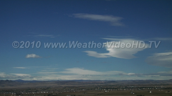 Wavy Winds Standing wave clouds lee of mountains during strong winds aloft