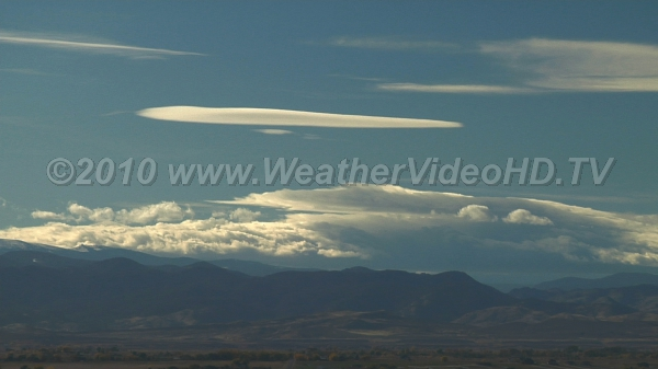 Downslope Wind Storm Foehn wall, cap clouds, lenticulars - the whole shebang of a downslope wind event